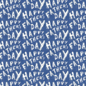 Best Wrapping Paper White Happy Father's Day on Blue Wrapping Paper 4.6sqm with Gridline