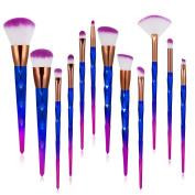 Ameauty 12Pcs Makeup Brushes, Professional Makeup Brush Set - Foundation Power Eyeshadow Eyebrow Concealer Lip Brush Cosmetic Blending Brush Tool