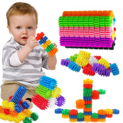 FIOLOM Building Blocks Puzzles Set Stacking Construction Toys for Boys and Girls Kids Preschool Education and Learning 40 PCS