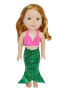 My Brittany's Mermaid Outfit for Wellie Wisher Dolls