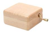Wooden Handcrank Music Box, Decoration for Home Living Room or Bedroom
