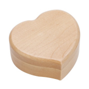 Heart Shape Vintage Wood Mechanism Musical Box Gift for Christmas or Birthday