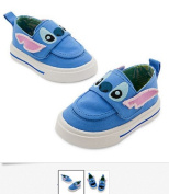 Disney Authentic - STITCH BABY SNEAKERS SHOES LIFT FLAP TO REVEAL HIS TOOTHY GRIN - size 12 - .