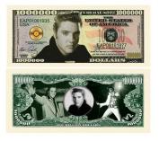 "100 Elvis Presley Novelty Million Dollar Bills with Bonus ""Thanks a Million"" Gift Card Set"