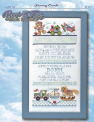 Boys & Toys Birth Sampler (Leaflet 359) Cross Stitch Chart and Free Embellishment