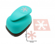 7.5cm inch Snow Flake Lever Action Craft Punch for Paper Crafting Scrapbooking Cards Arts DIY Project