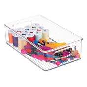 mDesign Craft and Sewing Storage Organiser Bin for Yarn, Paint - Clear