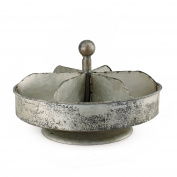 Vintage Style Spinning Distressed Metal Divided Caddy