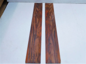 2 pieces of Cocobolo Rosewood, Bookmatched Sanded Veneer for Guitars, kiln dried