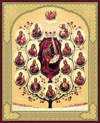 "Icon of Our Lady of the Tree 3,93"" x 4,72"" / 10x12cm Икона Божьей Матери Древо"