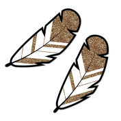 Bride Tribe - Feather Shaped Decorations DIY Bridal Shower & Bachelorette Party Essentials - Set of 20