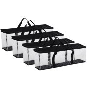 Fasmov Set of 4 DVD Storage Bags Hold up to 160 Dvds