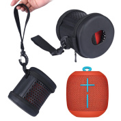 Zaracle Portable Carrying Case Travel Bag PU Leather Protective Storage Case For UE WONDERBOOM Bluetooth Speaker