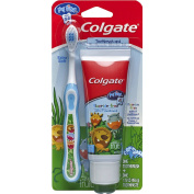 Colgate My First Toothbrush and Toothpaste Starter Kit - Blue, Ages 0-2