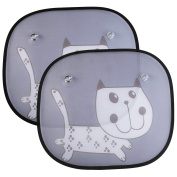 Car Shade for Baby(2 Pack), Opret Sunshades for Side Windows with Patterns to Block Sunlight, UV Rays and Reduce Heat