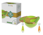 MASH AND SERVE BOWL SET - with Bonus Fork and Spoon | Make Your Own Homemade Baby Food | Fresh Food Baby Feeding | BPA Free
