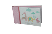 """Baby Photo Album 4 x 6 Brag Book """"Lullaby Girl"""" - Baby Shower Gifts, - Holds 24 Precious Photos, Acid-free Pages"""