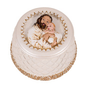 5.1cm H Jesus With Baby Keepsake Box Wrapped In His Love by Roman