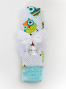 Baby Laundry Patterned Baby Blanket for Boys Girls - Owls/Tiffany Bump Baby