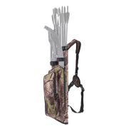 XTACER Multi-Function 4-Tubes Back Field Quiver Training Archery Arrow Quiver for Field Tips Arrows Takedown Bow