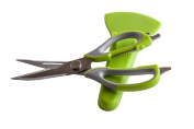 KIW Kitchen Shears, Shears with Magnetic Holder 18cm 1 Multi-function for Poultry, Seafood,Scallop,Herb,Scissoring