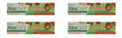 (4 PACK) - Aloe Dent Aloe Vera Childrens Toothpaste - Fluoride Free | 50ml | 4 PACK - SUPER SAVER - SAVE MONEY