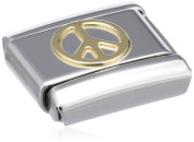 Nomination Composable Classic Love Peace Stainless Steel and 18K Gold