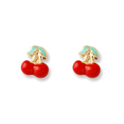 Women's and children's Cherry Stud Earrings Yellow Gold 375/1000 9 Carats