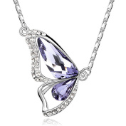 Austrian crystals dancing butterfly shape pendant love to feed