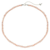 Pearlyta Spring Jewellery For Girls - Sterling Silver Pink Pearl Kids Necklace With Heart Charm