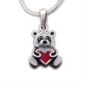 Ass 925 Women's Children Panda with Heart – Lucky Charm Pendant