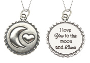 "Precious Pieces Girl's Sterling Silver ""I Love You to the Moon and Back"" Necklace, 36cm"