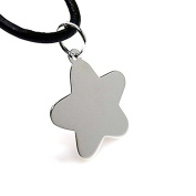 19mm 925m silver pendant law. Star sheet to record [AA8493]