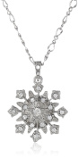 Downton Abbey Silver-Tone Crystal Large Starburst Pendant Necklace of 40.64-48.26cm