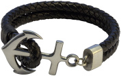 Bico Raw Anchor Double Leather Bolo Bracelet - stable and strong foundations