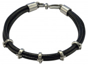 Bico Raw Faith Leather Bracelet with Crosses - faith without limits unyeilding