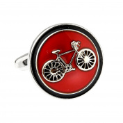 Cufflinks Bicycle Bike Round Cuff Links