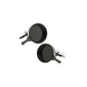 Black Frying Pan Cuff Links Skillet Cufflinks