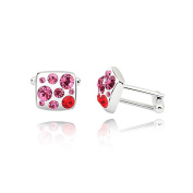 La Vivacita Twilight Cufflinks with crystal 18ct gold plated Quality Gift