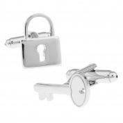 ducomi® Line Luxury Cufflinks in Silver and Gold Plated