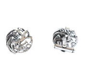 Game Of Thrones Three Headed Dragon Cufflinks - GOT Shirt Acessories In Gift Box