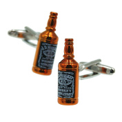 Rxbc2011 Men's Whisky Bottle Style French Shirts Cufflinks 1 Pair Set