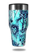 Skin Decal Wrap for Walmart Ozark Trail Tumblers 1180ml Scene Kid Sketches Blue (TUMBLER NOT INCLUDED) by WraptorSkinz