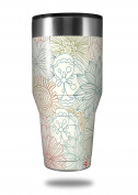 Skin Decal Wrap for Walmart Ozark Trail Tumblers 1180ml Flowers Pattern 02 (TUMBLER NOT INCLUDED) by WraptorSkinz