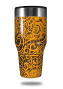 Skin Decal Wrap for Walmart Ozark Trail Tumblers 1180ml Folder Doodles Orange (TUMBLER NOT INCLUDED) by WraptorSkinz
