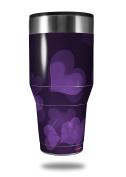Skin Decal Wrap for Walmart Ozark Trail Tumblers 1180ml Bokeh Hearts Purple (TUMBLER NOT INCLUDED) by WraptorSkinz