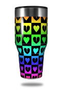 Skin Decal Wrap for Walmart Ozark Trail Tumblers 1180ml Love Heart Checkers Rainbow (TUMBLER NOT INCLUDED) by WraptorSkinz