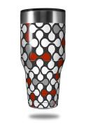 Skin Decal Wrap for Walmart Ozark Trail Tumblers 1180ml Locknodes 05 Red Dark (TUMBLER NOT INCLUDED) by WraptorSkinz