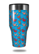 Skin Decal Wrap for Walmart Ozark Trail Tumblers 1180ml Crabs and Shells Blue Medium (TUMBLER NOT INCLUDED) by WraptorSkinz