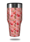 Skin Decal Wrap for Walmart Ozark Trail Tumblers 1180ml Crabs and Shells Pink (TUMBLER NOT INCLUDED) by WraptorSkinz